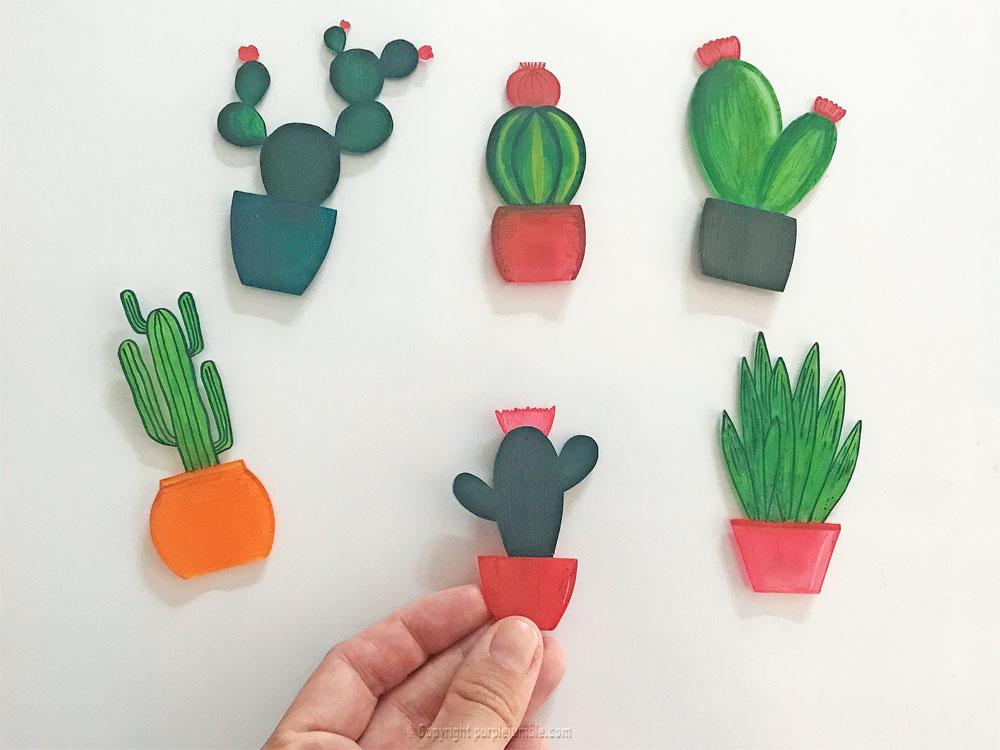 diy cadre cactus plastique dingue miniatures