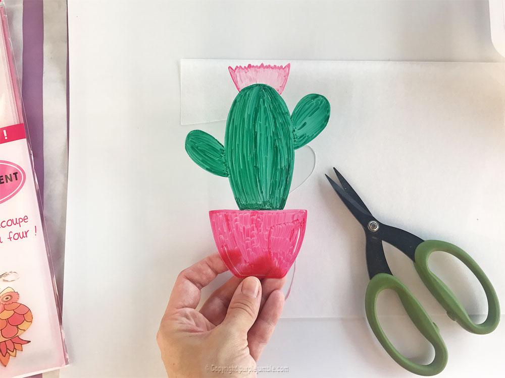 diy cadre cactus plastique dingue découpé