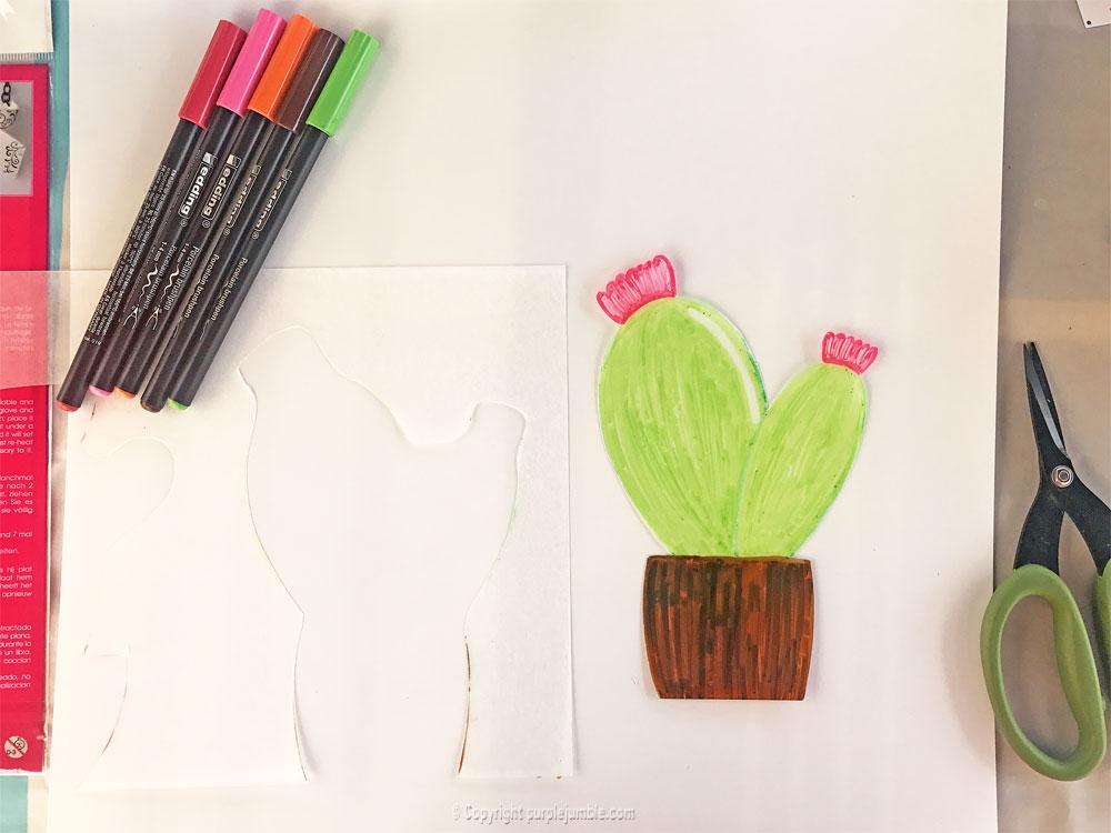 diy cadre cactus plastique dingue deuxième