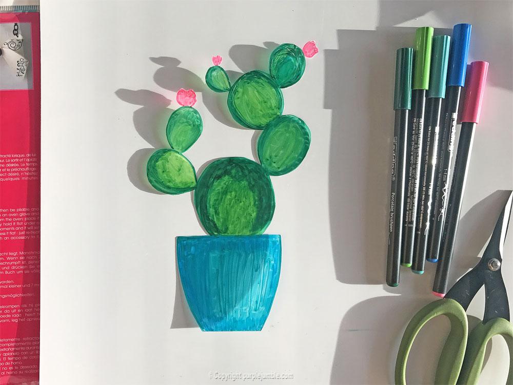 diy cadre cactus plastique dingue cinquième