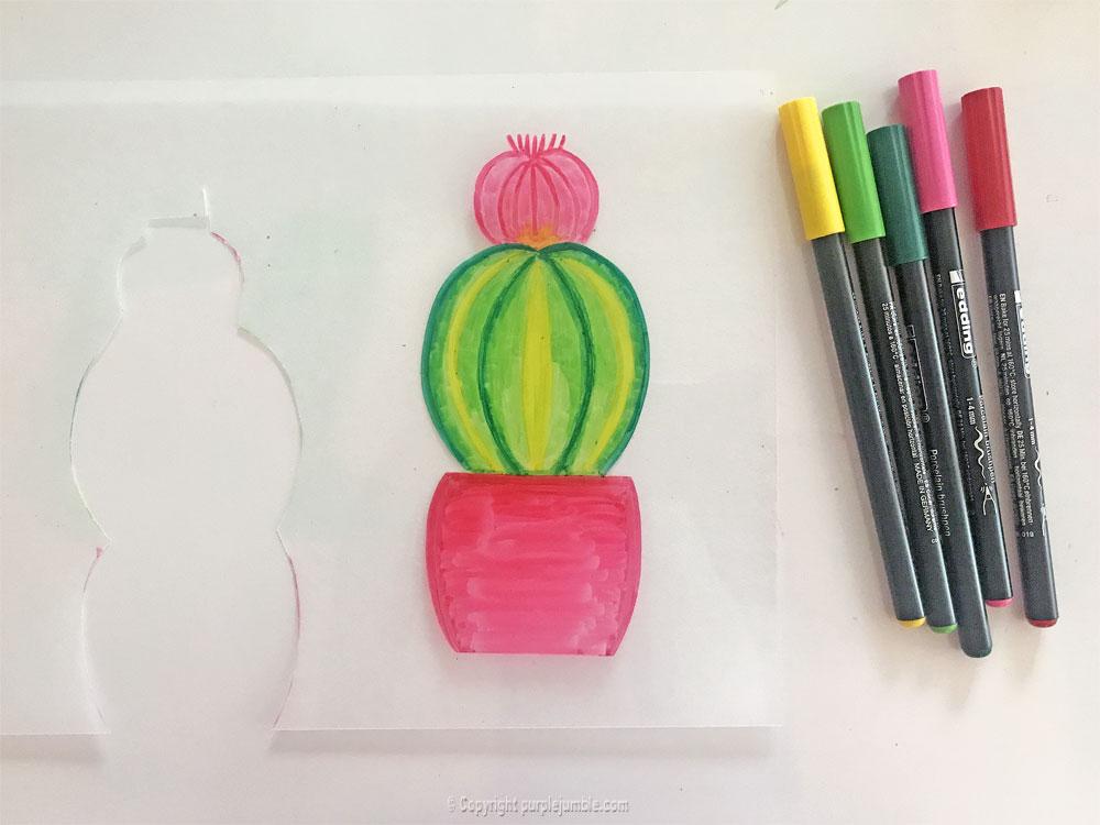 diy cadre cactus plastique dingue sixième