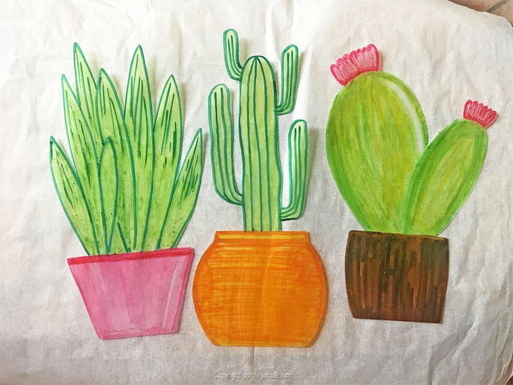 diy cadre cactus plastique dingue cuisson