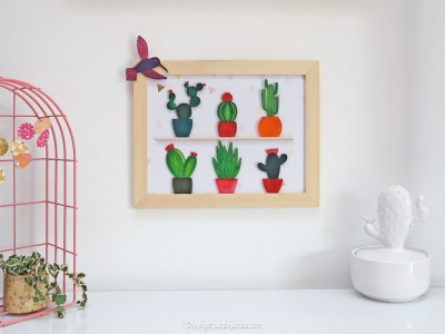 diy cadre cactus plastique dingue photo finale