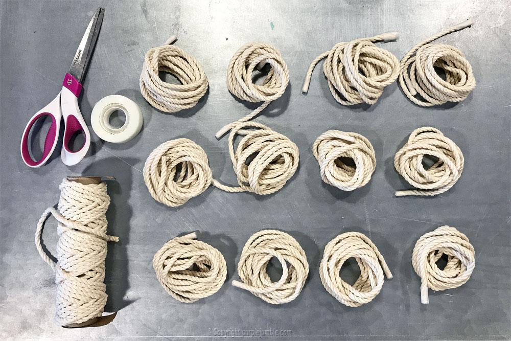 DIY suspension macramé atelier zodio matériel