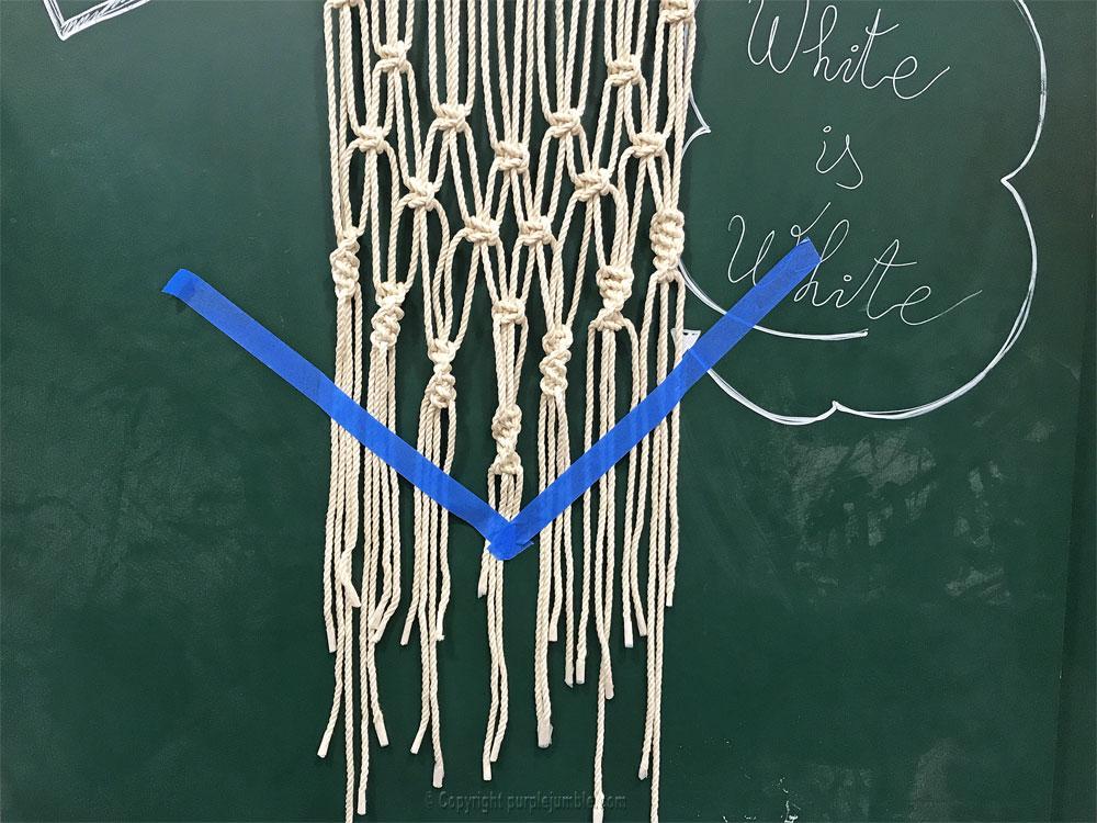 DIY suspension macramé atelier zodio découpe