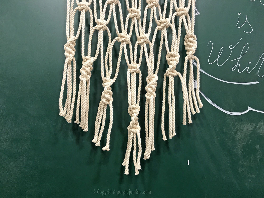 DIY suspension macramé atelier zodio pointe