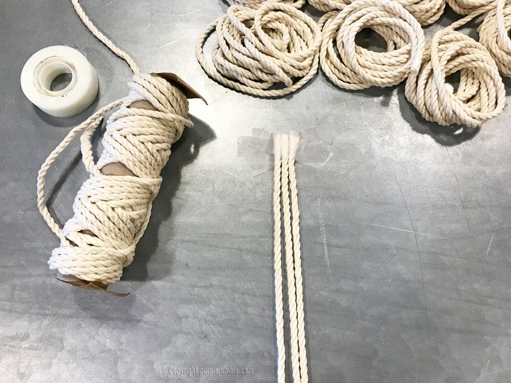 DIY suspension macramé atelier zodio corde