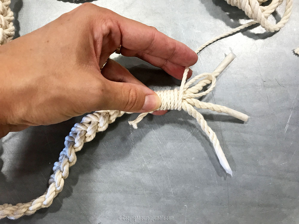 DIY suspension macramé atelier zodio bouts