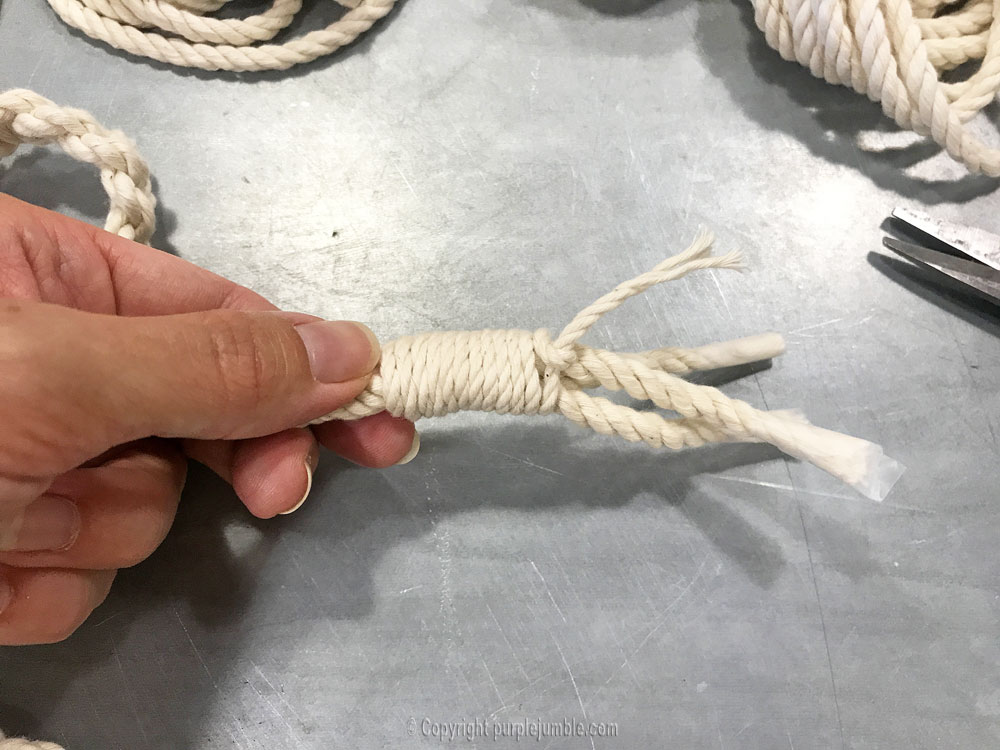 DIY suspension macramé atelier zodio finition