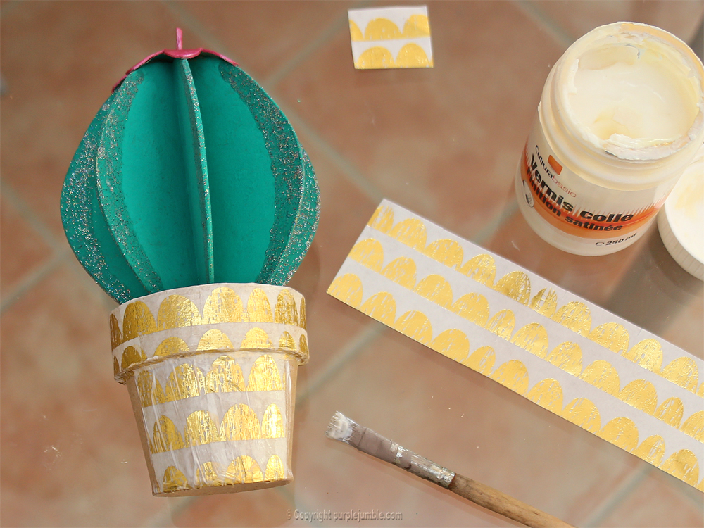 diy cactus carton creavea paper patch