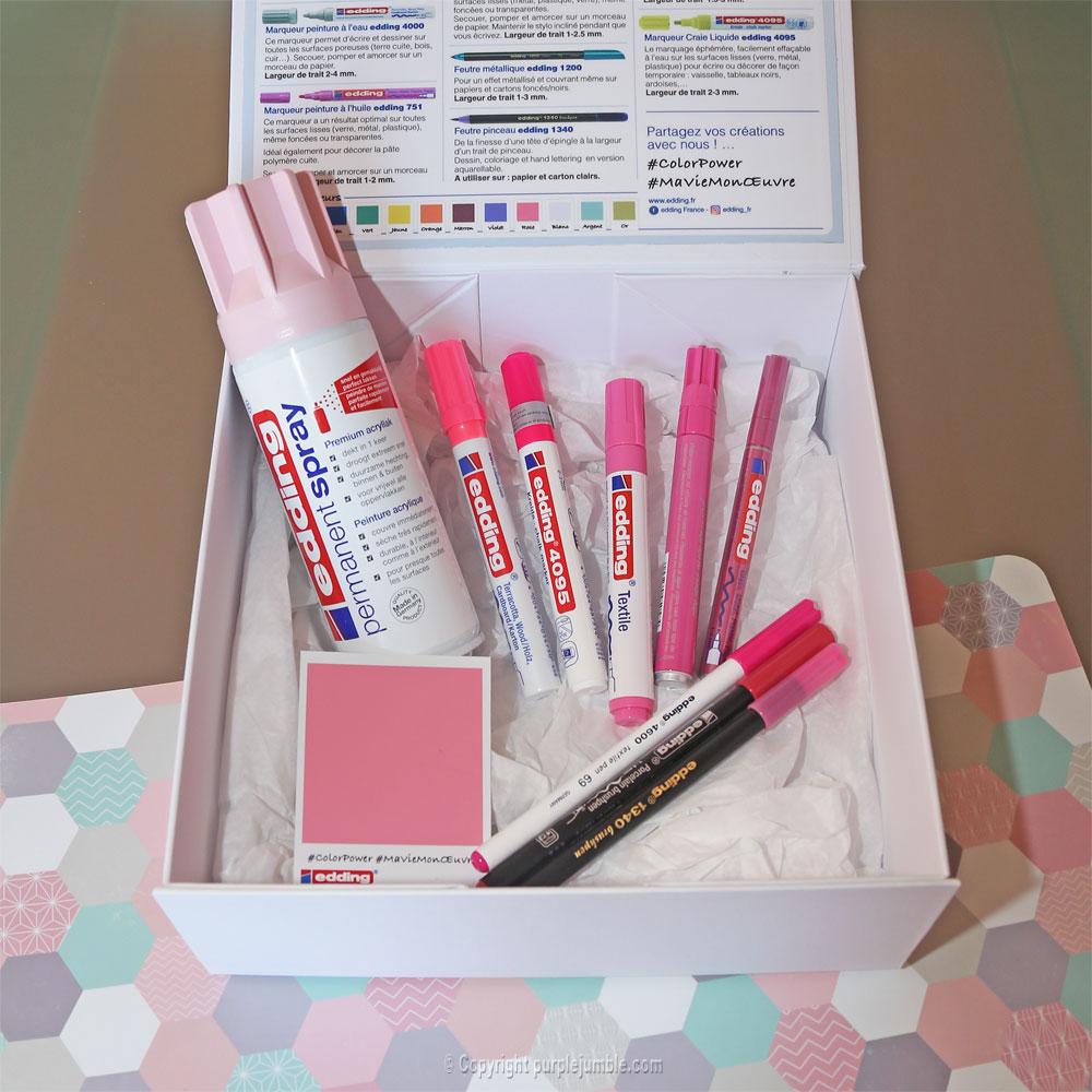 concours edding color box boite