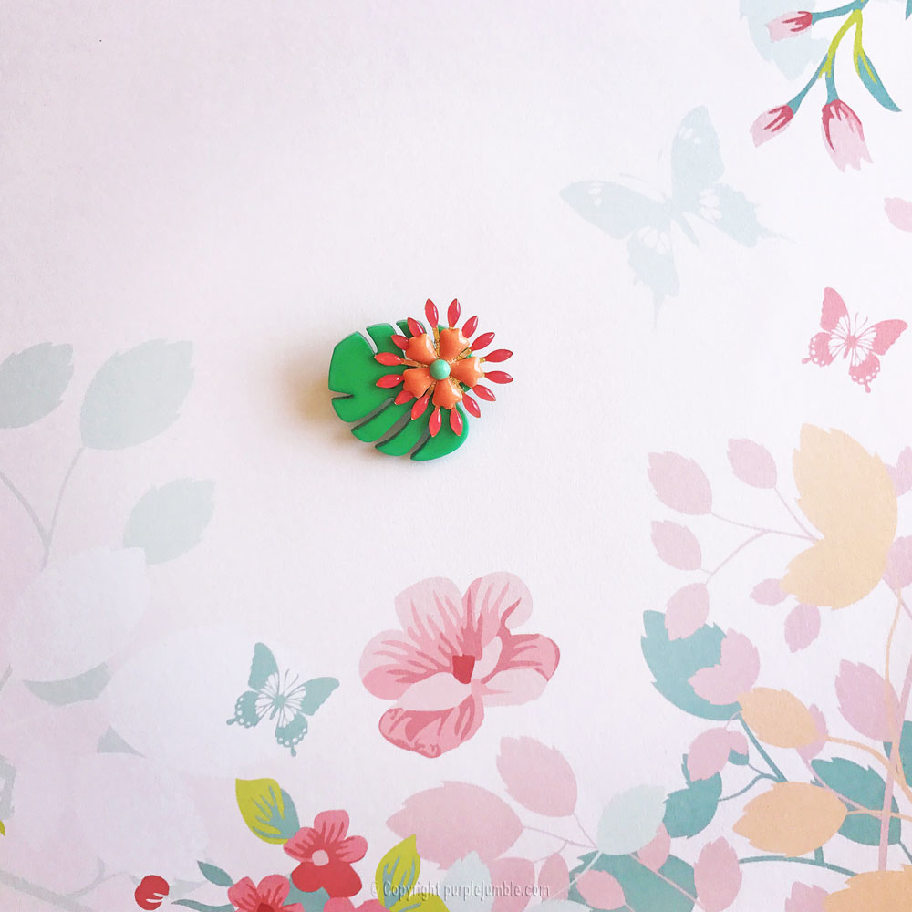 diy broche tropicale finie