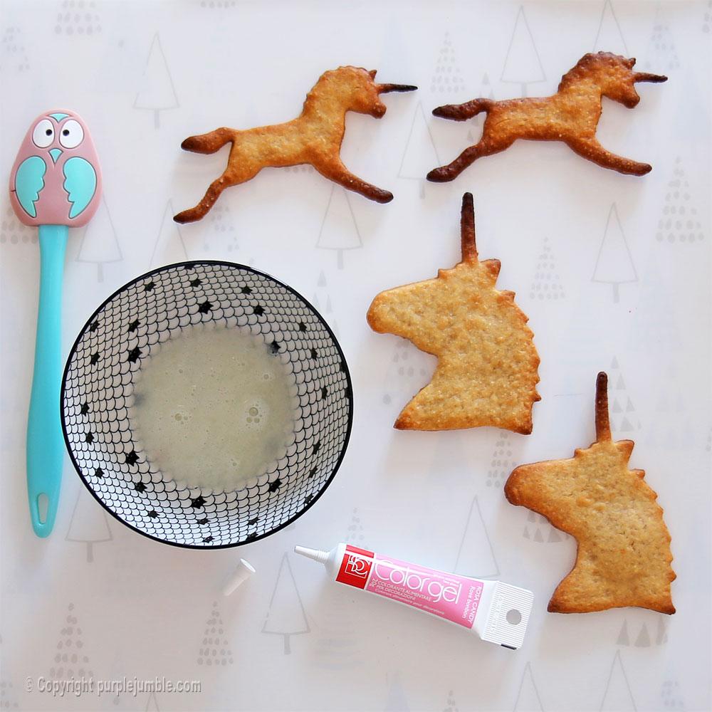 biscuits licornes fondant