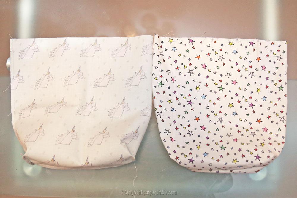 diy panier tissu enduit licorne rico design étoiles