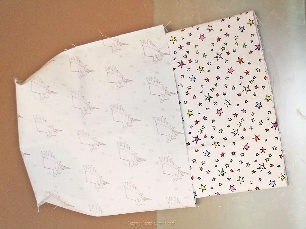 diy panier tissu enduit licorne rico design assemblage