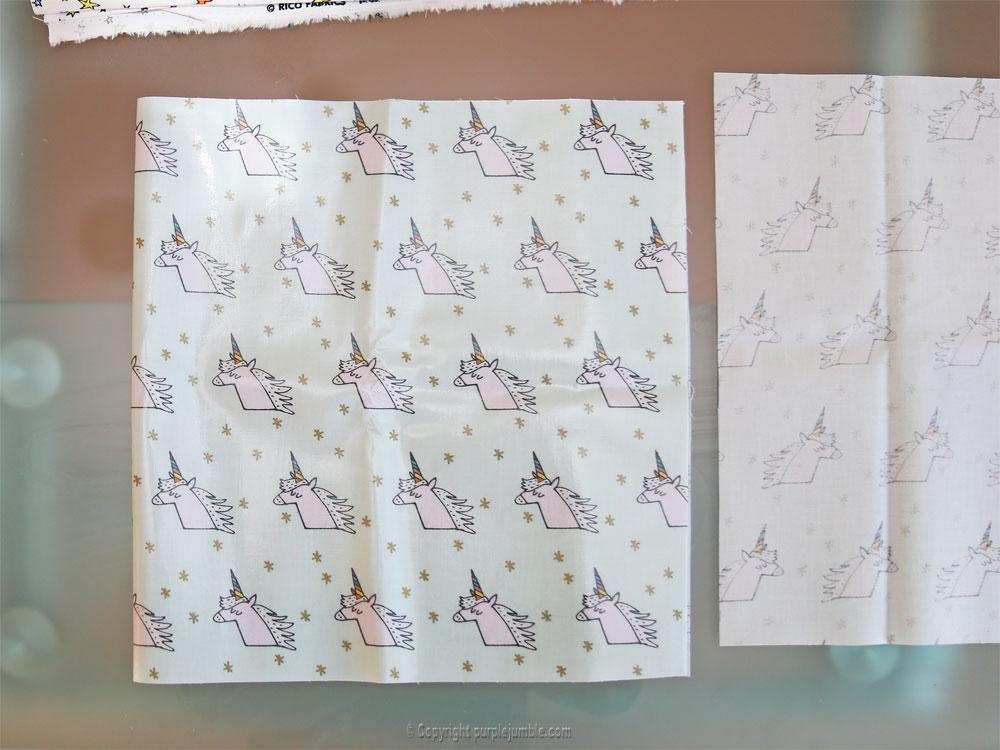 diy panier tissu enduit licorne rico design pliage