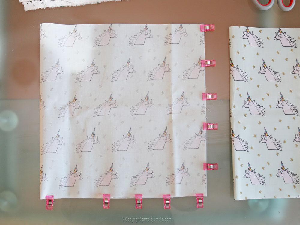 diy panier tissu enduit licorne rico design pinces