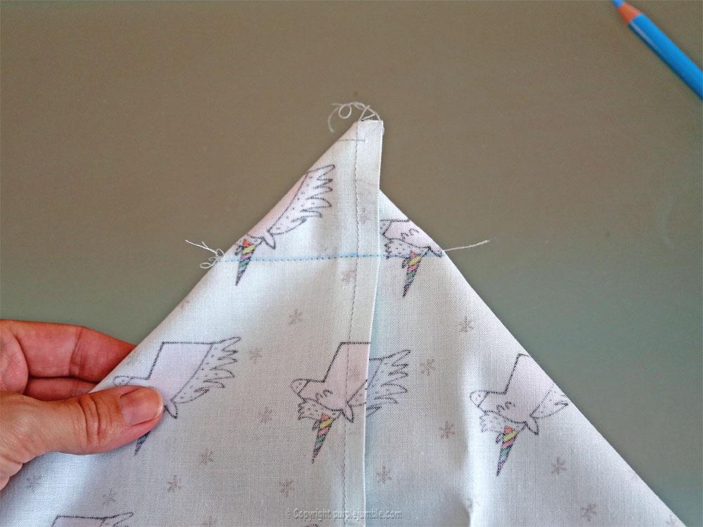 diy panier tissu enduit licorne rico design angle