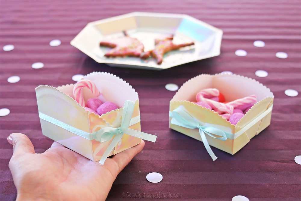 diy paniers assiettes carton bonbons