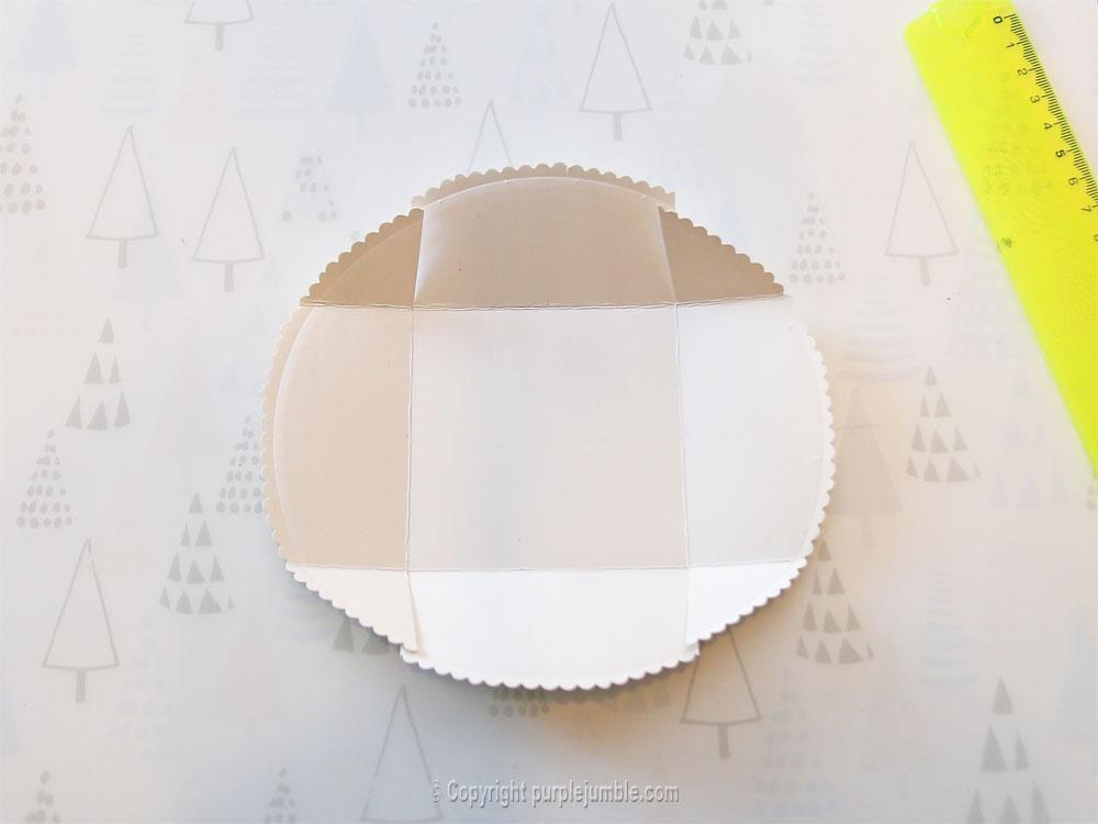 diy paniers assiettes carton plié