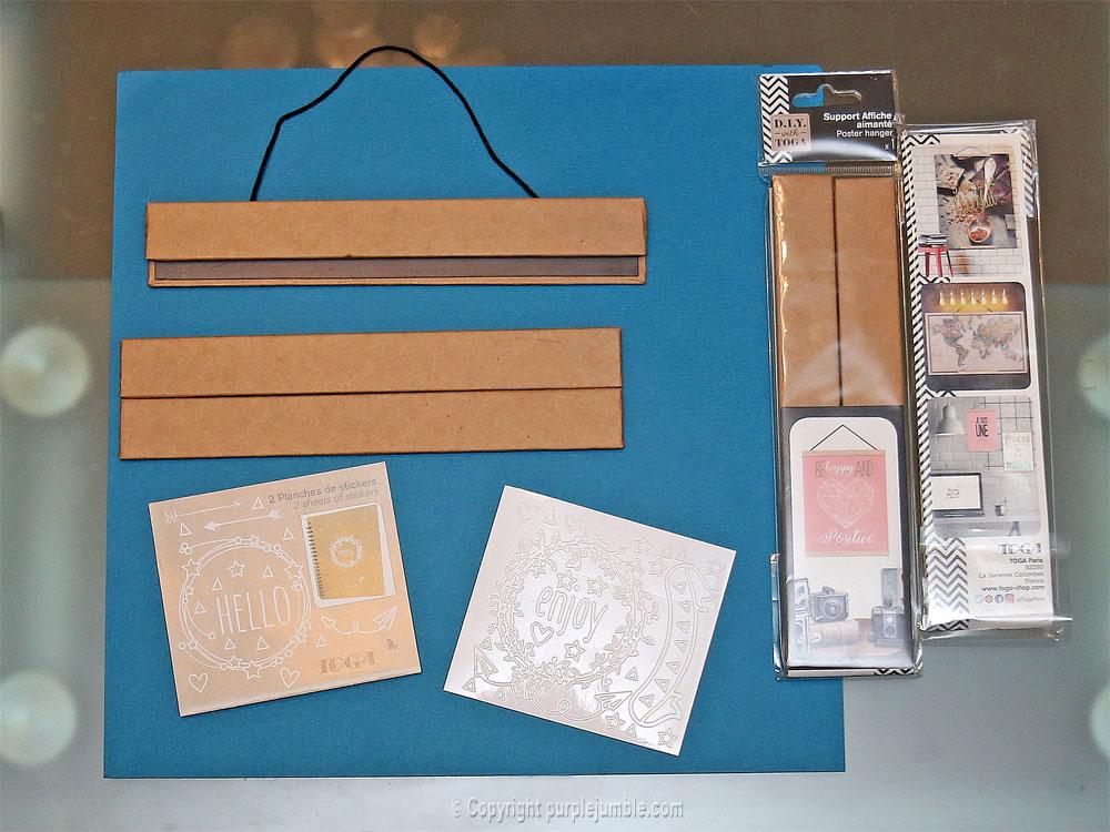 diy affiche stickers toga matériel