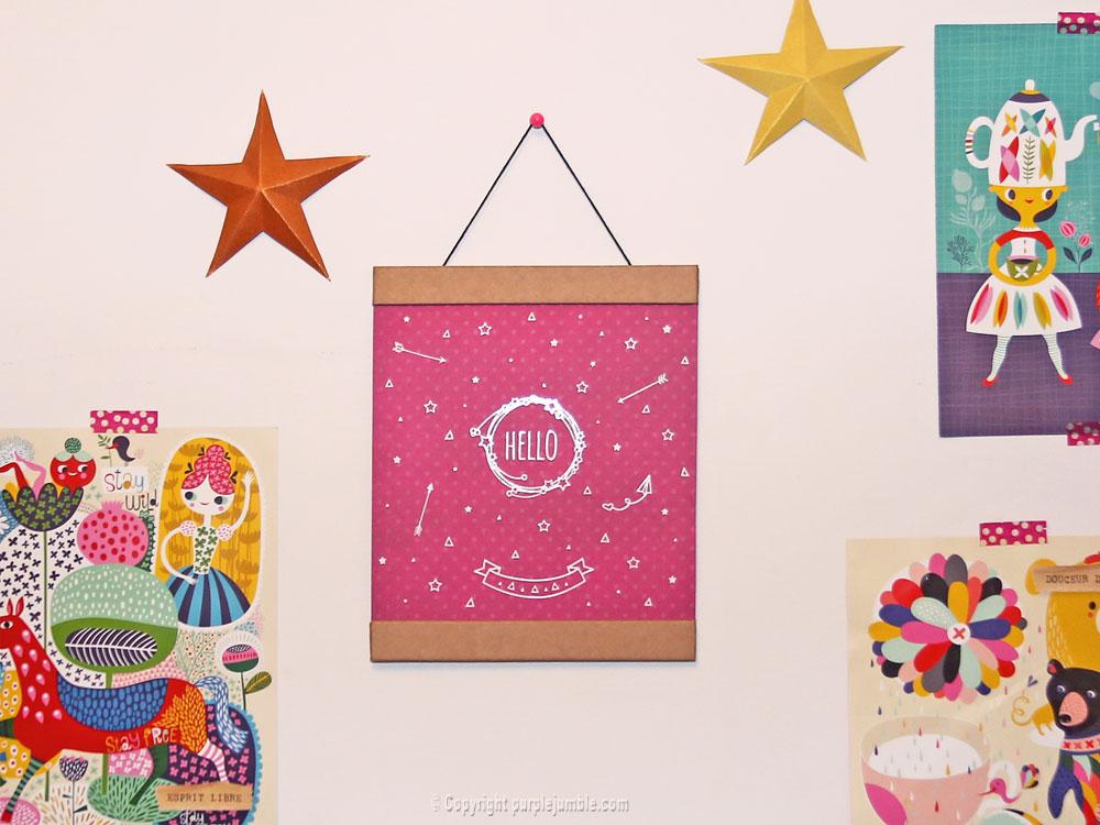 diy affiche stickers toga chambre