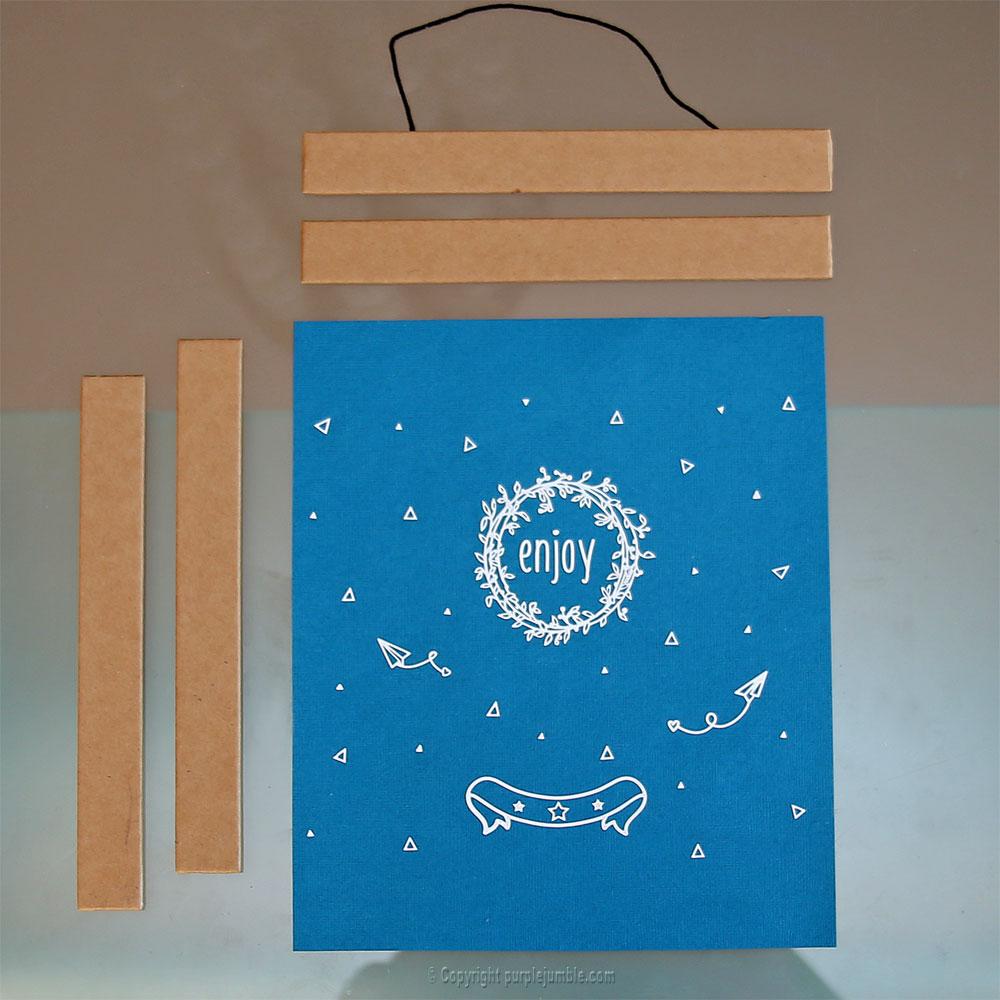 diy affiche stickers toga matériel décoration
