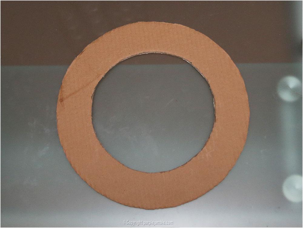diy couronne fleurs papier noël cercle