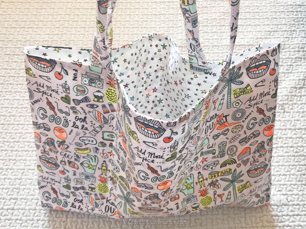 diy sac cabas tissu rico design intérieur