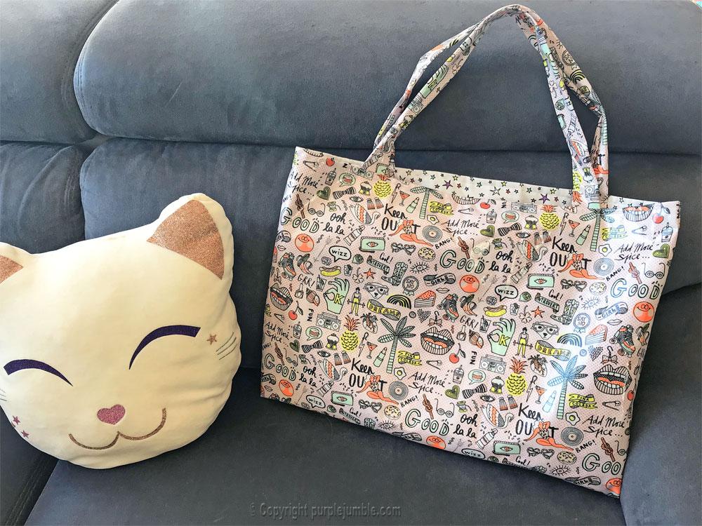 diy sac cabas tissu rico design coussin