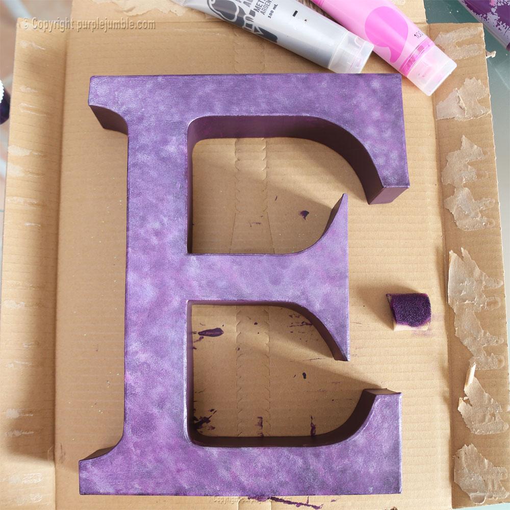 lettre carton peinture galaxie diy effets
