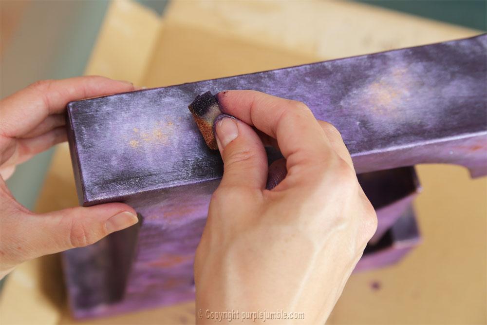 lettre carton peinture galaxie diy éponge