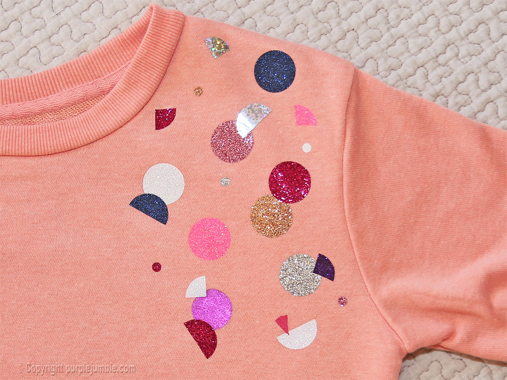 diy sweat customisé ronds pailletteshaut