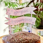 Diy cake topper anniversaire