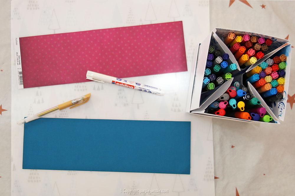 diy cartes de vœux edding handlettering papier