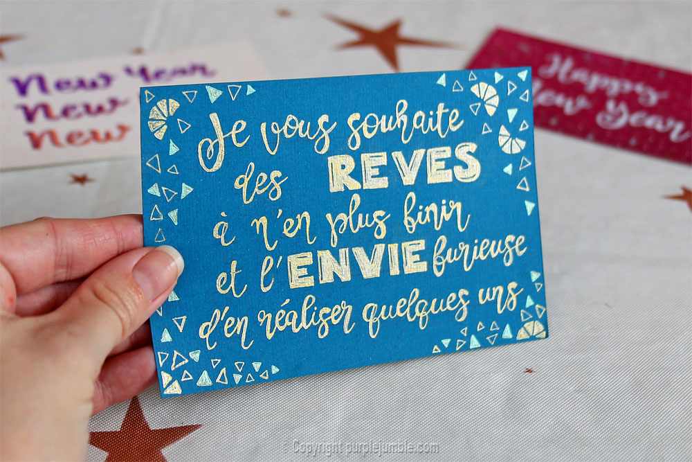 diy cartes de vœux edding handlettering citation