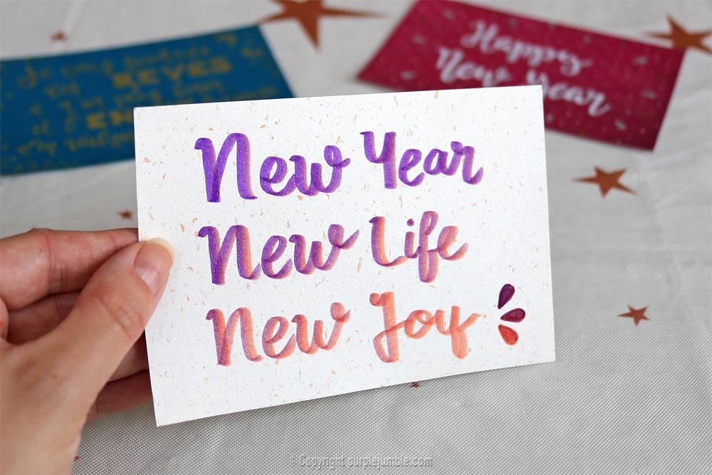 diy cartes de vœux edding handlettering message
