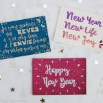 diy cartes de vœux edding handlettering