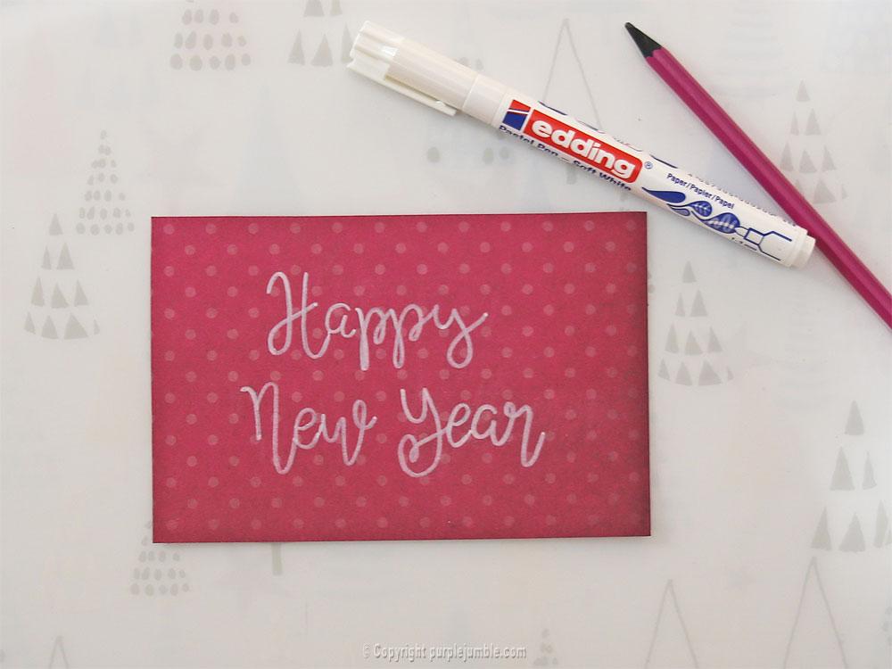 diy cartes de vœux edding handlettering stylo