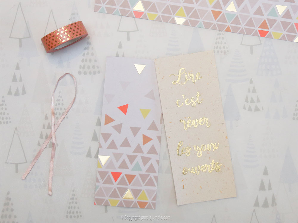 diy marque pages embossage papier