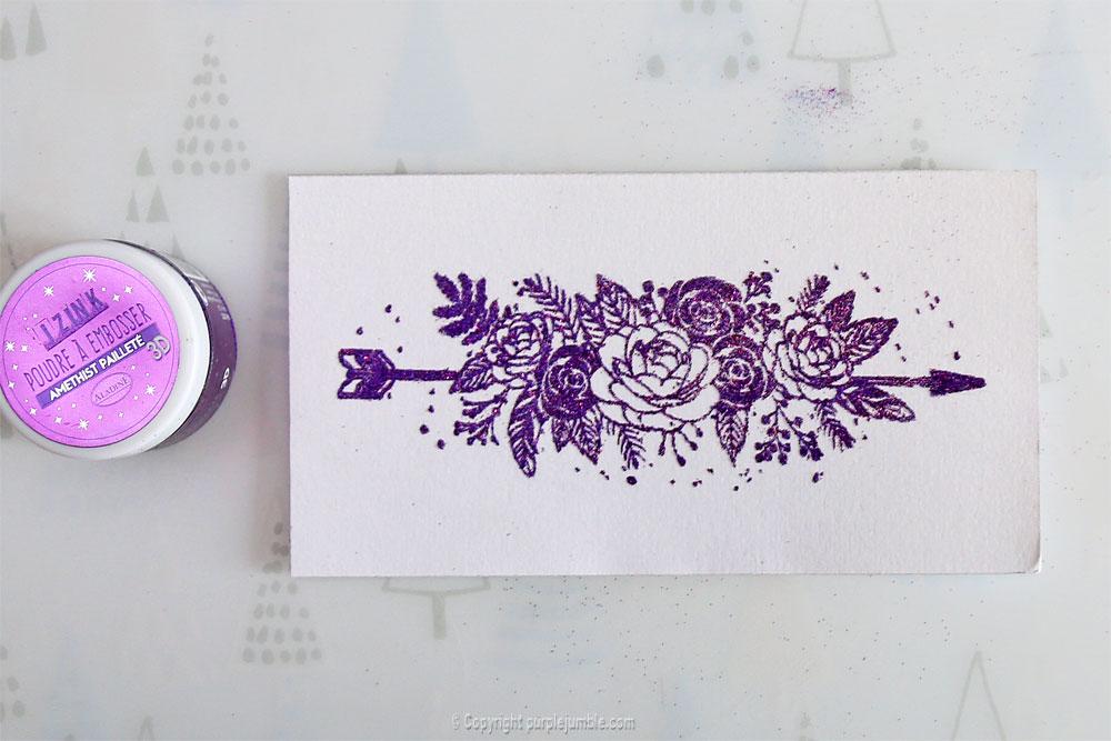 diy marque pages embossage fleur
