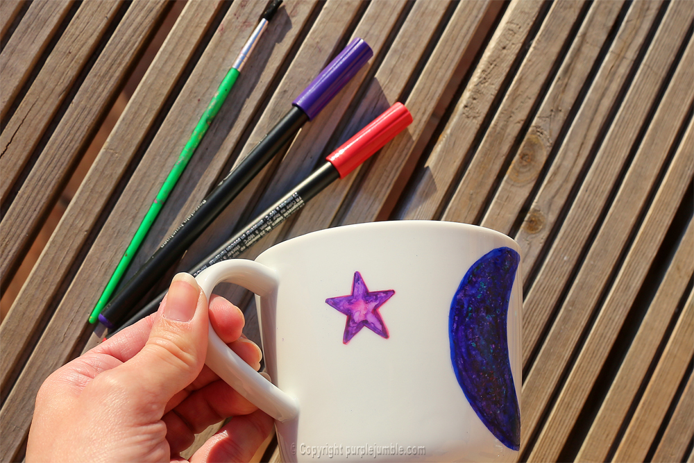 diy saint valentin mug edding violet