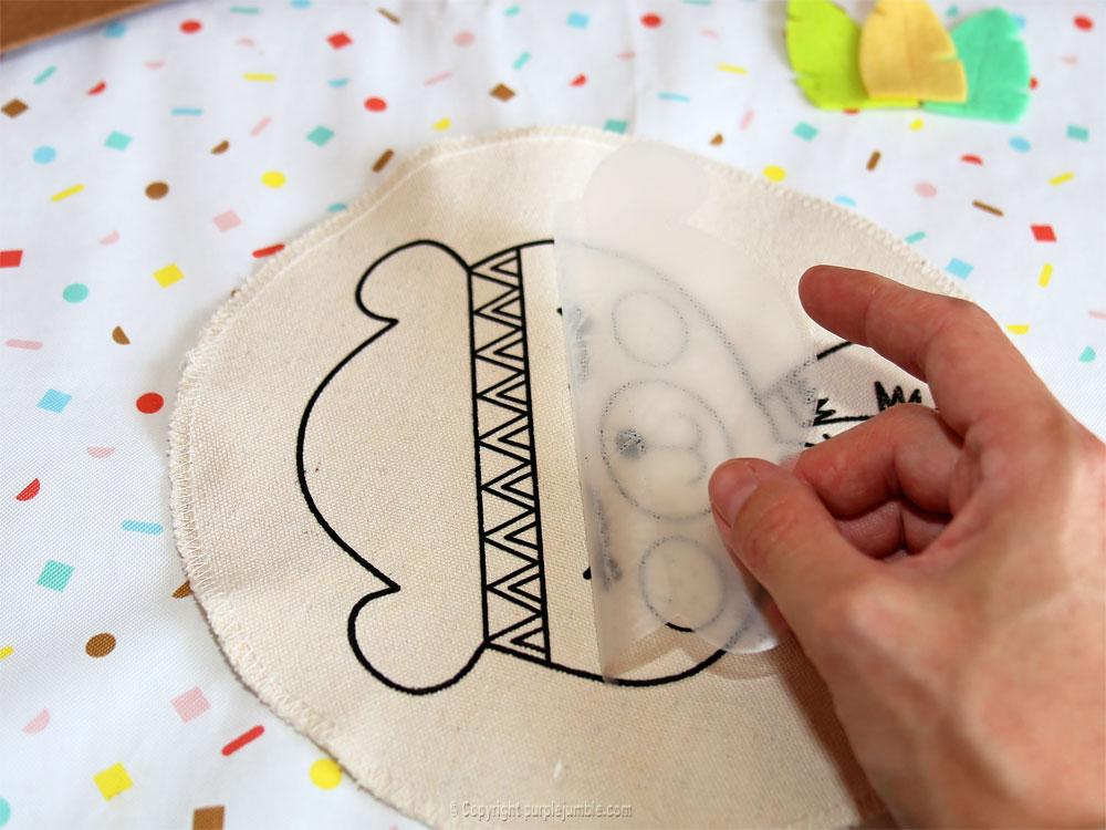 diy cadre tambour toga motif