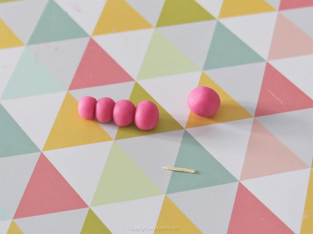 diy pâques 2018 pâte à modeler rose