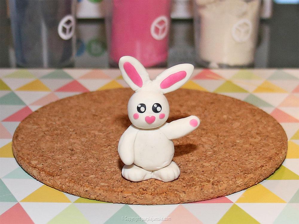 diy pâques 2018 pâte à modeler lapin
