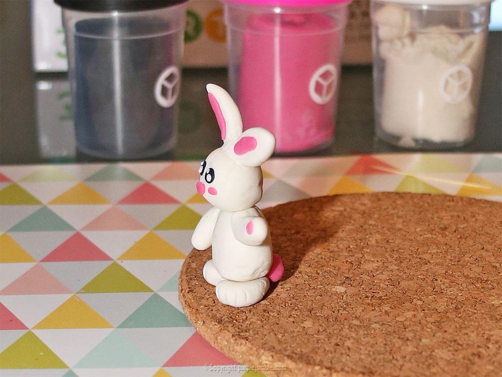 diy pâques 2018 pâte à modeler rabbit