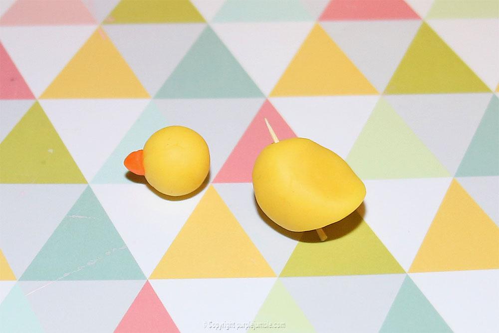 diy pâques 2018 pâte à modeler poussin