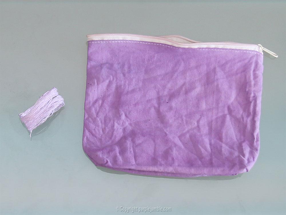 diy pochette teinture textile coloria mauve