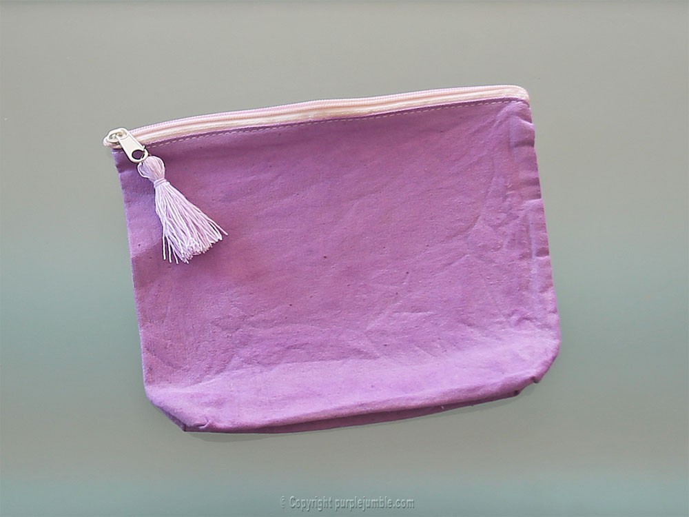diy pochette teinture textile coloria attache