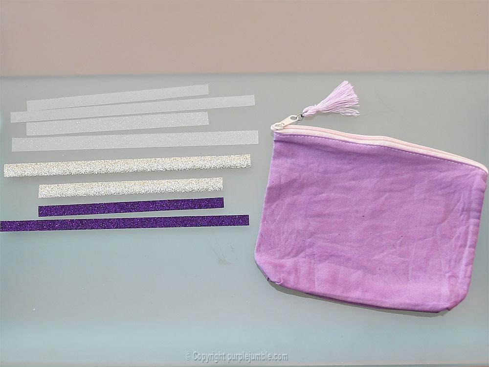 diy pochette teinture textile coloria bandes